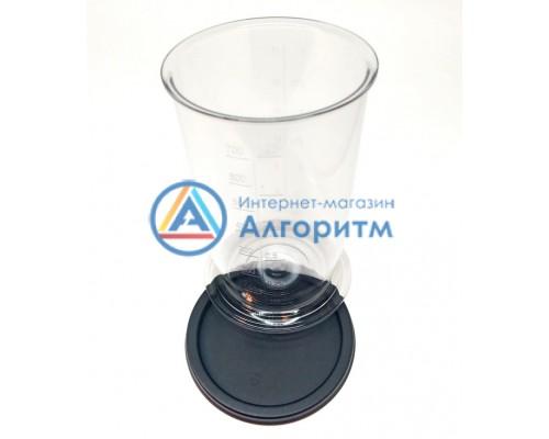 00481139 (00656963) Bosch (Бош) мерный стакан с КРЫШКОЙ черного цвета для всех типов погружных блендеров