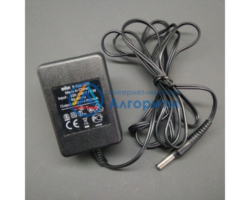 67030072 Braun (Браун) адаптер 1.2 V , 1500 mA для триммера Hair Perfect HC50 TYPE: 5605