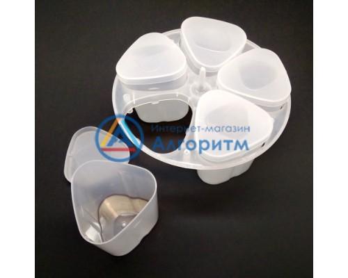Redmond (Редмонд) баночки мультиварки для йогурта 5 штук с подставкой диаметром 165 мм
