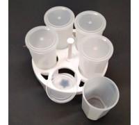 Баночки для мультиварок пластиковые 5 штук с подставкой.