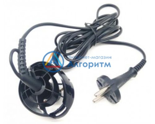81508375 Braun (Браун) сетевой провод в сборе для фена Satin Hair 5, Steam & Style Pro AS530, ASS1000 (черный)